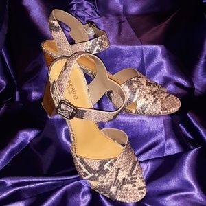 Womens Snakeskin Open-toe Strappy Sandals